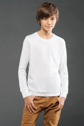 ECO-HYBRID Youth Fine Jersey Long Sleeve Tee
