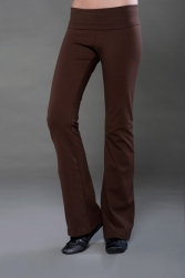 Cotton Spandex Jersey Low Rise, Fold-Over Yoga Pant
