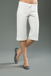 Cotton Spandex Jersey Low Rise, Below-the-Knee Cropped Pant
