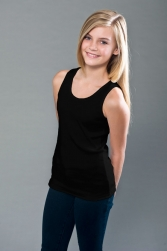 Youth Cotton Spandex 2x1 Rib Tank