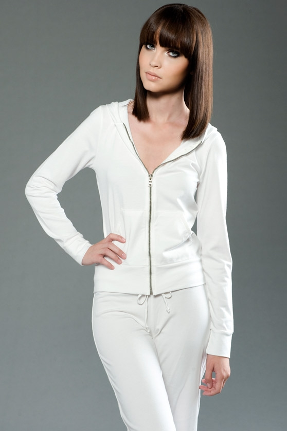 eco-HYBRID&#8482 Spandex French Terry Long Sleeve Fitted Zip Hoody