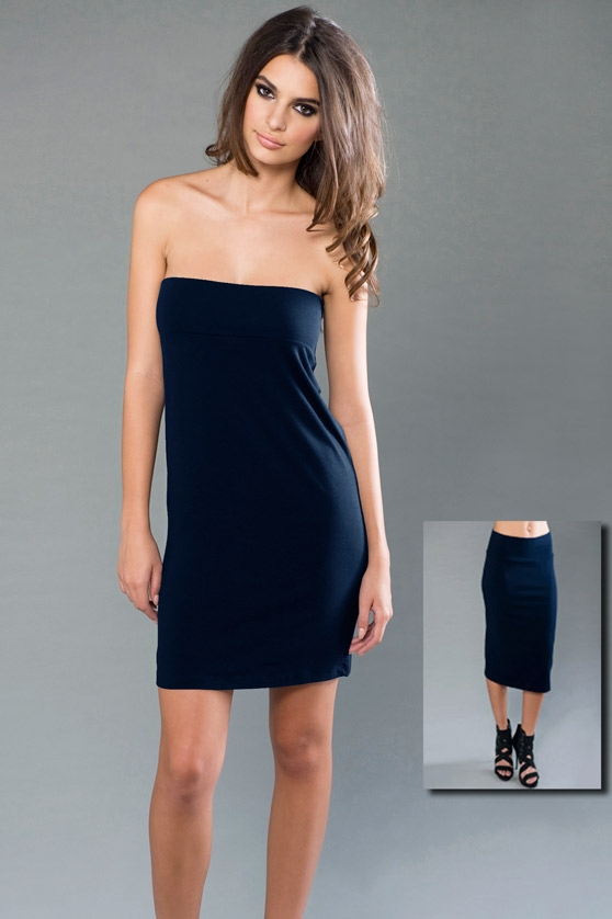 74aca7a0e8189 ECO-HYBRID Spandex Jersey Banded Tube Dress   Skirt