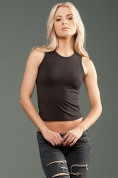 ECO-HYBRID Spandex Jersey Fitted + Cropped Muscle Tank