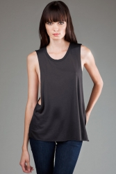 ECO-HYBRID Micro Jersey Deep Side Cut Muscle Tank